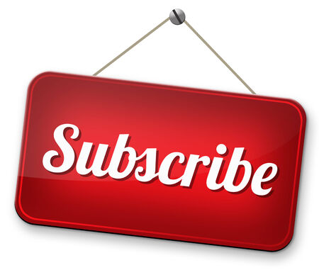 web feed: Subscribe here and become a member online free subscription and membership for newsletter or blog join today Stock Photo