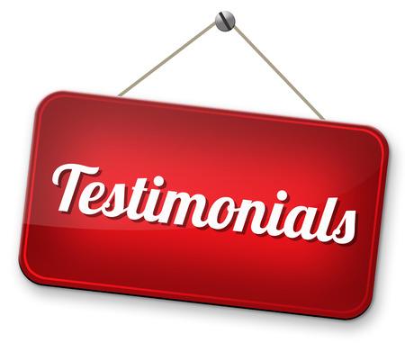 getuigenissen opmerkingen of feedback van klanten