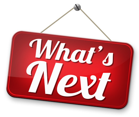 next: what is next step level or move what's now making a plan or planning ahead set your goal Stock Photo