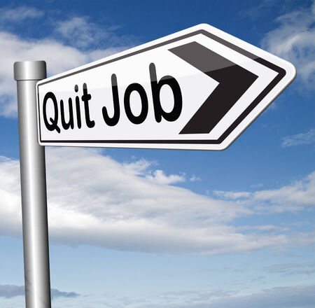 quit job find new profession resigning from work and getting unemployed photo