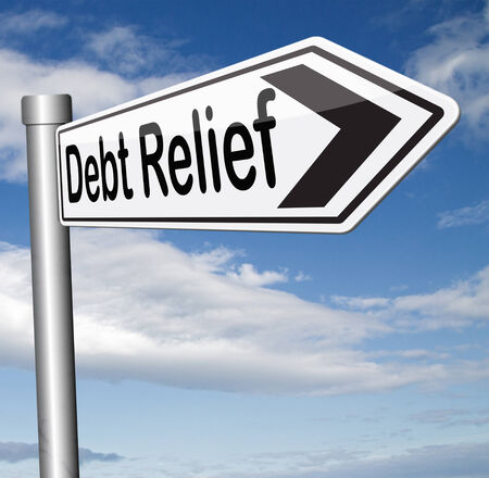 debt relief after bankruptcy caused by credit or housing bubbles restructuring finance after economic or bank crisis Reklamní fotografie