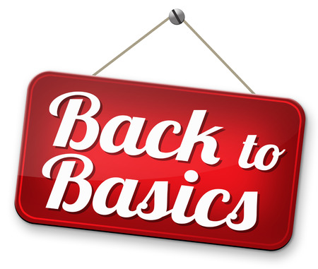 simplify: Back to basics to the beginning keep it simple and basic primitive simplicity Stock Photo