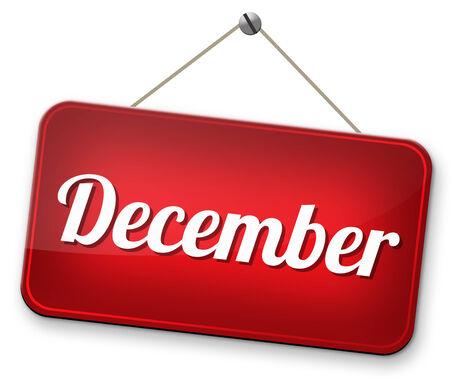 December last month of the year winter season event calendar or next agenda schedule