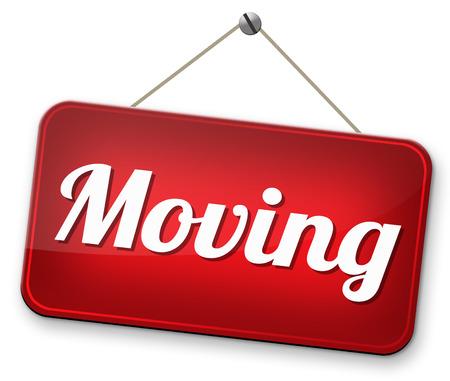 Bewegende of verhuizing verhuizen naar andere huis of locatie