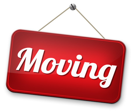 Moving or relocation relocate to other house or location Standard-Bild