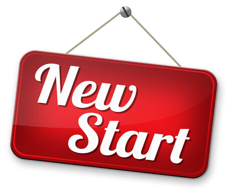 again: new fresh start or chance back to the beginning and do it again road sign arrow