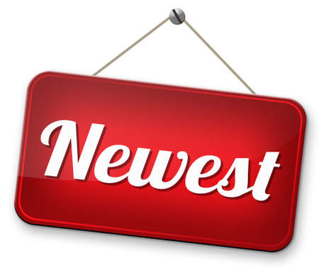 newest: newest and latest product model new news release Stock Photo