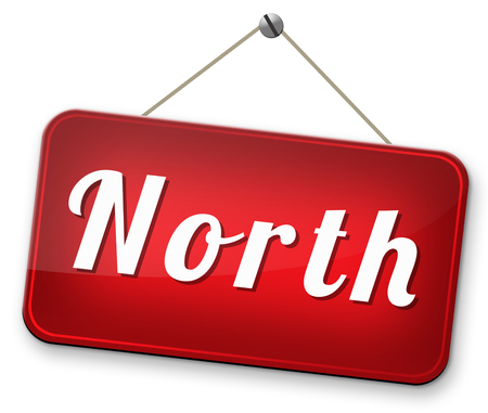 geographical: north geographical compass direction north pole Stock Photo