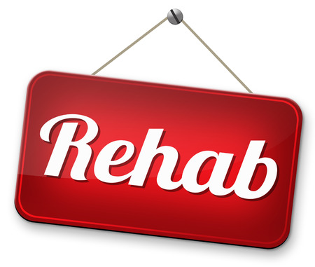 rehabilitation rehab for drugs alcohol addiction or sport and accident injury physical or mental therapy photo
