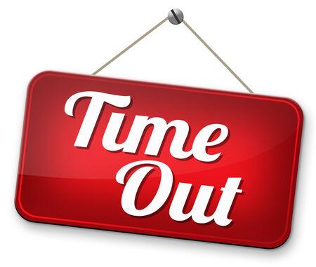 Zeit nehmen, eine Pause vom Stress und Arbeit Freizeit off Entspannung unter einen Holliday