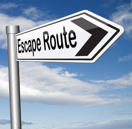 escape route avoiding stress and break free running away to safety no rat race