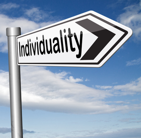 personality development: individuality being different stand out from crowd having a unique personality be one of a kind and unique personal freedom development and existence Stock Photo