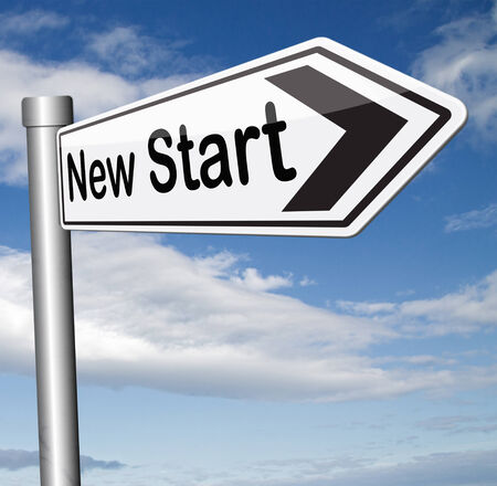 start: Neuanfang frisch beginnen oder Chance zur�ck an den Anfang und spielen das Spiel erneut Lizenzfreie Bilder