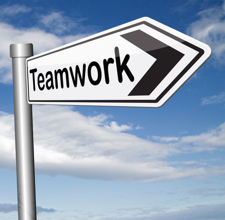 our company: teamwork business concept