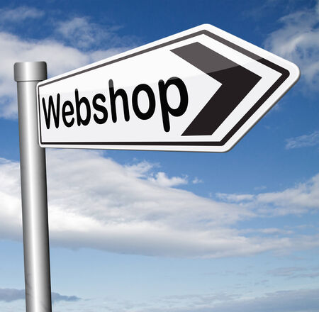webshop: online shopping at internet webshop or store