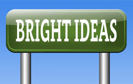 brigt: bright new ideas brilliant innovation and idea start brainstorm and explore creativity Stock Photo