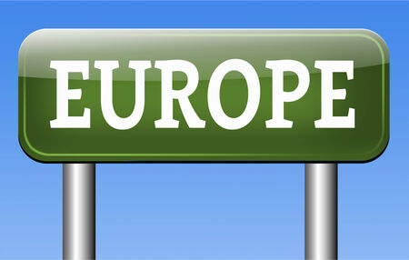 Europe indicating direction to explore the old continent travel vacation tourism photo