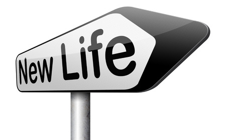 start: neues Leben Stra�e nach frisch beginnen neue Startzeichen