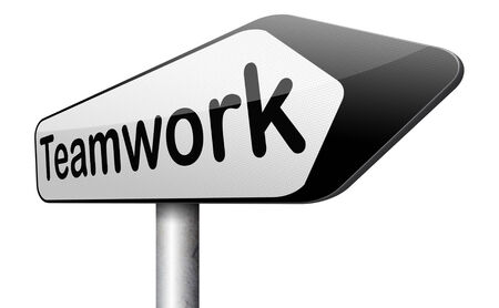 teambuilding: teamwork coorporation working together team work Stock Photo