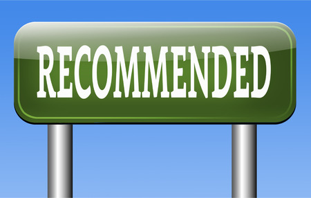 optimal: recommended top quality product review recommendation for best choice optimal solution Stock Photo
