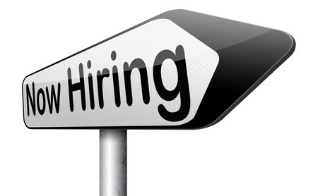 job opening: ahora la contrataci�n de oferta de trabajo de b�squeda o la oferta de puestos de trabajo vacantes Help Wanted Foto de archivo