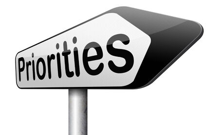 crucial: priorities important very high urgency info highest importance crucial information top priority dont forget road sign arrow