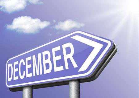December last month of the year winter season event calendar or next agenda schedule photo