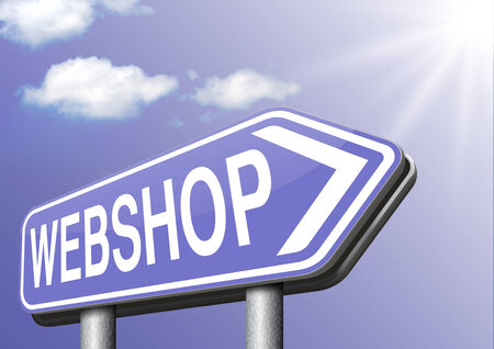 webshop road sign buy or sell at internet web shop online shopping e-commerce photo