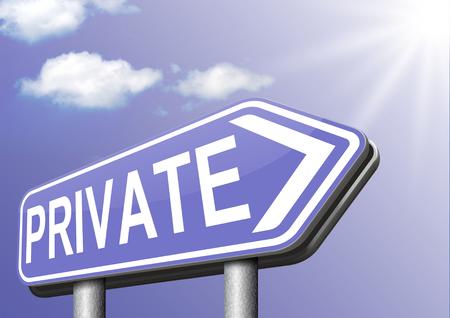 datos personales: informaci�n privada �rea restringida de los datos personales y la informaci�n de proteger la privacidad Foto de archivo