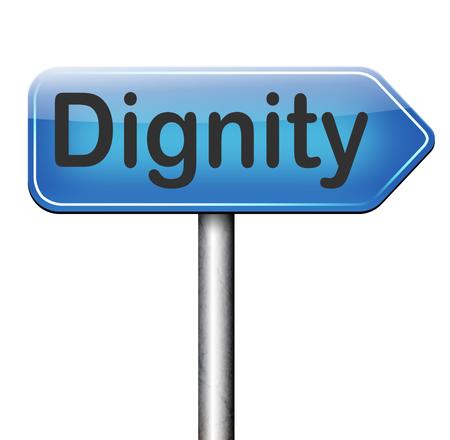 dignit�: dignit� estime de soi ou la confiance de respect et de fiert� signe Banque d'images