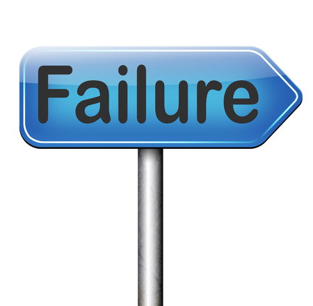 big failure ends in disaster fail exam test or other attempt failing examination is a disappointment photo