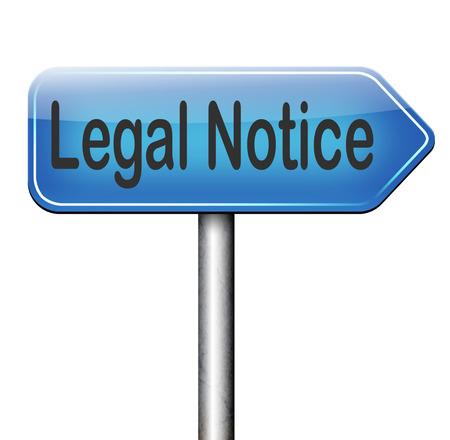 사용 조건이있는 법적 고지 스톡 콘텐츠