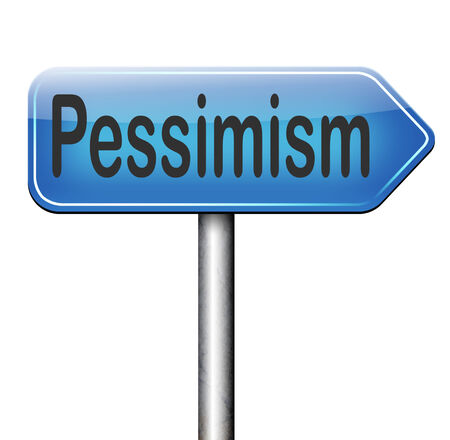 pessimistic: pessimism negative pessimistic thinking bad mood pessimist Stock Photo