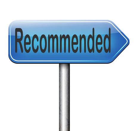 recommendations: recommended top quality product review recommendation for best choice optimal solution Stock Photo