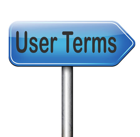 Terms of use or user terms and agreement photo