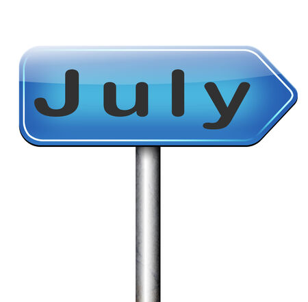 July summer month of the year  or event schedule or agenda Stock Photo