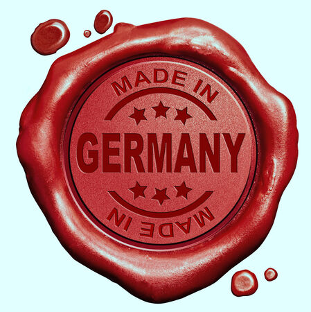 made in germany: Made in Germany red wax seal or stamp, quality label