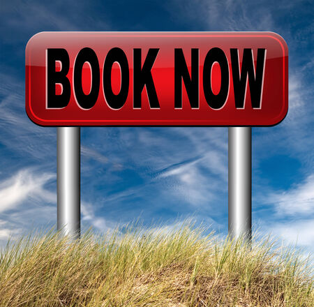 online ticket reservation or book ing, book here and now photo