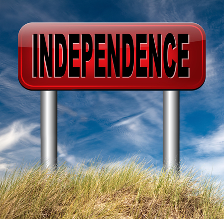 self sufficient: independence self sufficient or self employed independent life for the elderly disabled or young people
