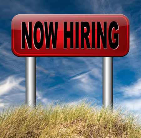 job opening: hiring now job opening or offer search for jobs vacancy help wanted Stock Photo