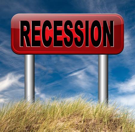 global economic crisis: global economic recession crisis bank and stock crash economy and financial bank recession market crash road sign