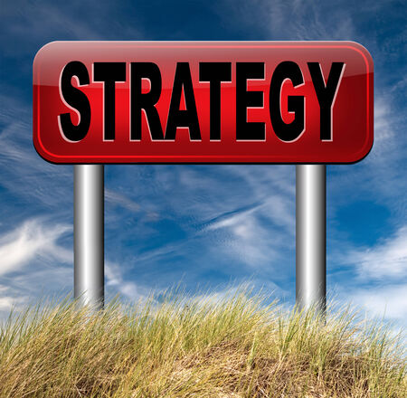 business strategy: business strategy marketing and market plan Stock Photo