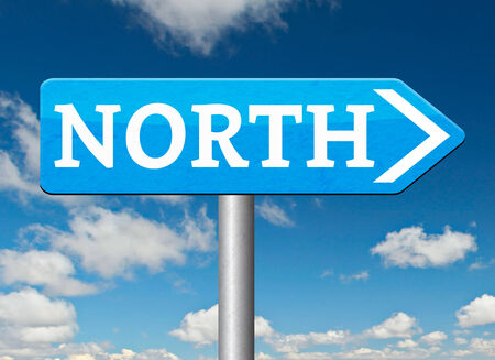 north geographical compass direction north pole photo