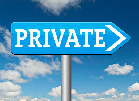 private information: private and personal information big brother, banner for privacy protection and discretion of restricted info