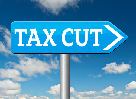 reduce taxes: tax cut lower or reduce taxes paying less