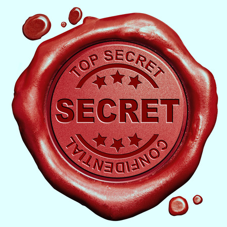 private information: top secret information confidential private info red wax seal stamp button