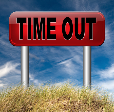 time out: time out take a break from stress and work leisure time off relaxation taking a Holliday Stock Photo