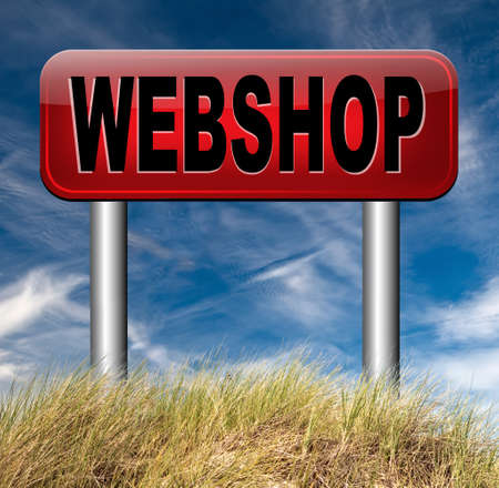 online shopping at internet webshop or store photo
