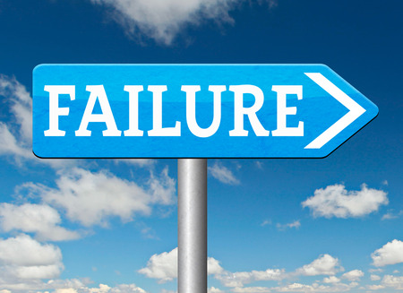 looser: failure fail exam road sign arrow or attempt can be bad especially when failing an important task or in your study failing an exam. You feel frustrated being a looser and disaster Stock Photo