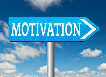 going for it: motivation letter for new work motivate yourself self motivation keep trying dont give up make things happen Stock Photo